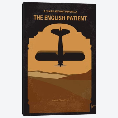 The English Patient Minimal Movie Poster Canvas Print #CKG369} by Chungkong Canvas Artwork