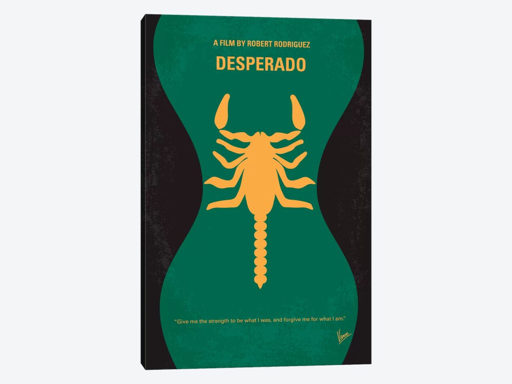 Desperado Minimal Movie Poster by Chungkong 1-piece Canvas Artwork