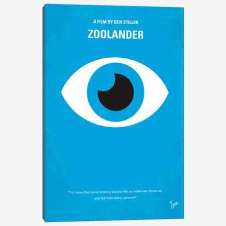 Zoolander Minimal Movie Poster Canvas Print #CKG370} by Chungkong Art Print