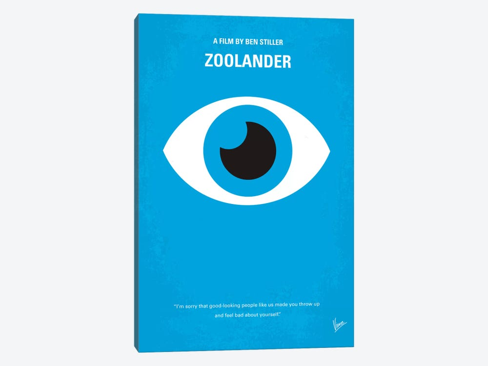 Zoolander Minimal Movie Poster by Chungkong 1-piece Canvas Art