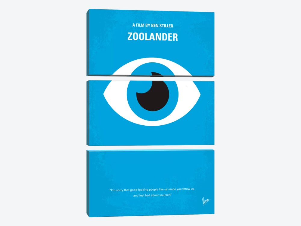 Zoolander Minimal Movie Poster by Chungkong 3-piece Canvas Art