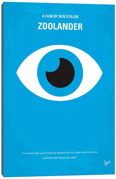 Zoolander Minimal Movie Poster Canvas Art Print