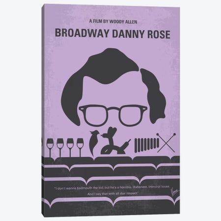 Broadway Danny Rose Minimal Movie Poster Canvas Print #CKG371} by Chungkong Canvas Art Print