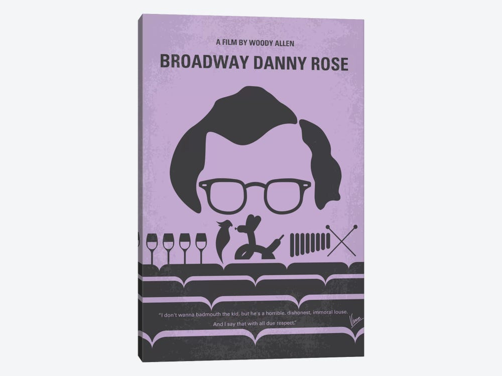 Broadway Danny Rose Minimal Movie Poster by Chungkong 1-piece Canvas Print