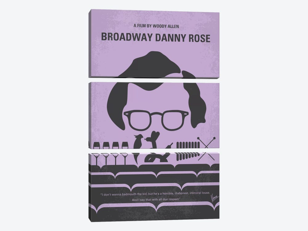 Broadway Danny Rose Minimal Movie Poster by Chungkong 3-piece Canvas Art Print