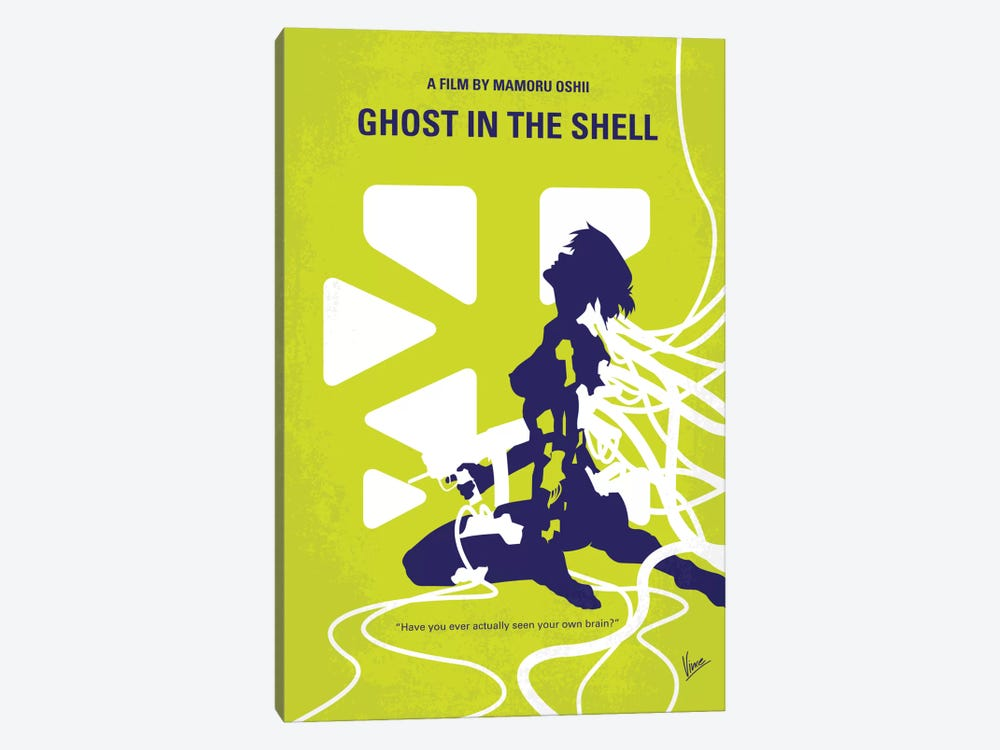 Ghost In The Shell Minimal Movie Poster by Chungkong 1-piece Canvas Art
