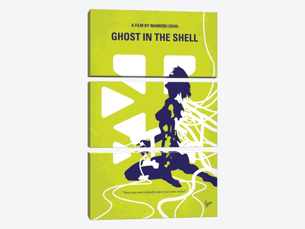 Ghost In The Shell Minimal Movie Poster by Chungkong 3-piece Canvas Artwork