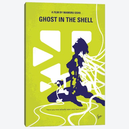 Ghost In The Shell Minimal Movie Poster Canvas Print #CKG374} by Chungkong Canvas Wall Art