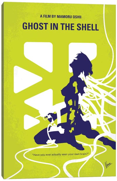 Ghost In The Shell Minimal Movie Poster Canvas Art Print