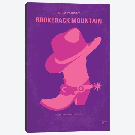 Brokeback Mountain Minimal Movie Poster Canvas Print #CKG377} by Chungkong Canvas Artwork