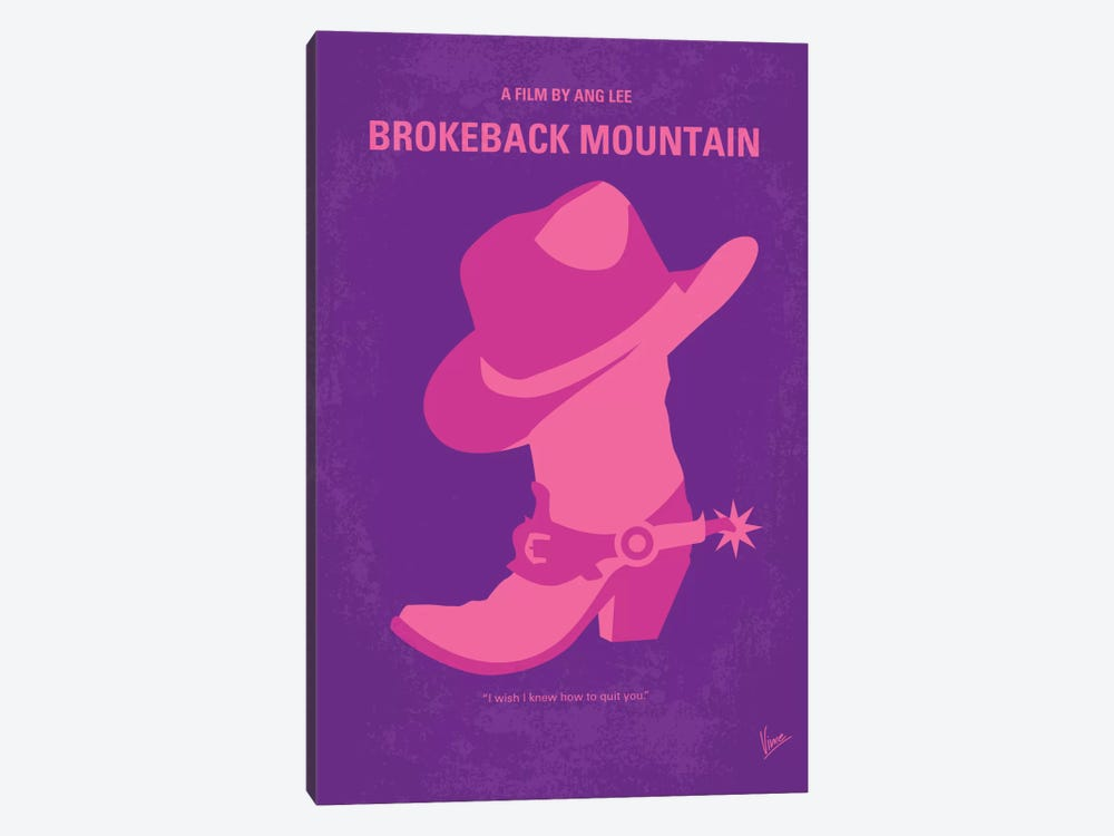 Brokeback Mountain Minimal Movie Poster by Chungkong 1-piece Canvas Print