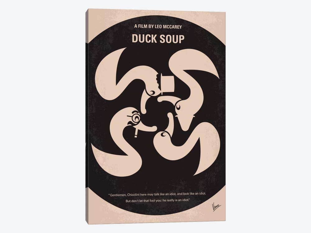 Duck Soup Minimal Movie Poster by Chungkong 1-piece Canvas Art