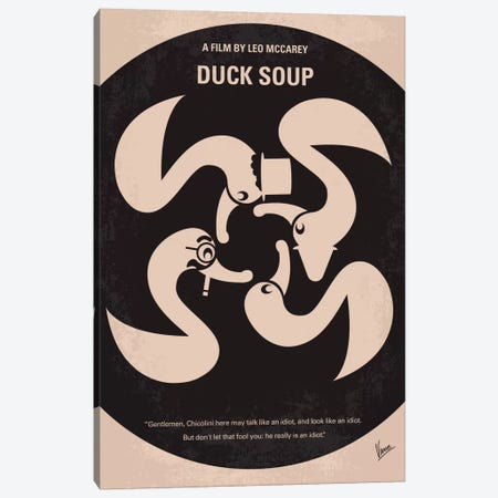 Duck Soup Minimal Movie Poster Canvas Print #CKG378} by Chungkong Canvas Art Print
