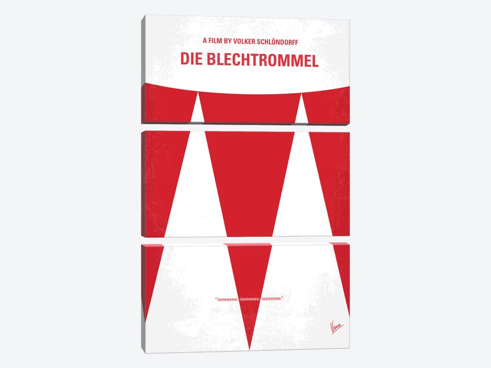 Die Blechtrommel Minimal Movie Poster by Chungkong 3-piece Canvas Print