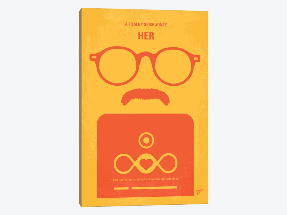 Her Minimal Movie Poster by Chungkong 1-piece Canvas Art Print