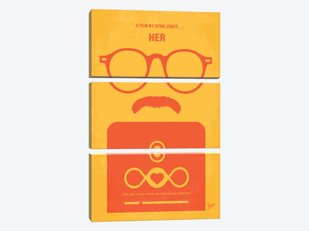 Her Minimal Movie Poster by Chungkong 3-piece Canvas Art Print