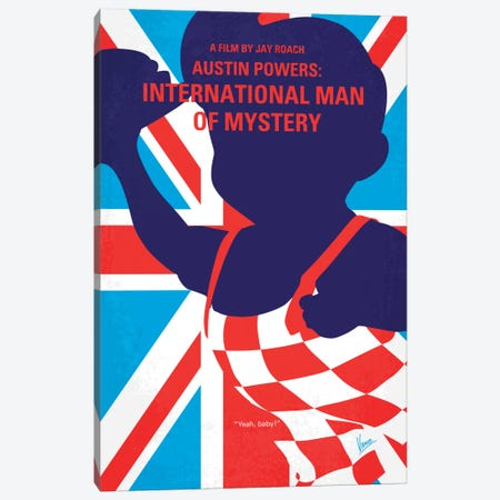 Austin Powers: International Man Of Mystery Minimal Movie Poster Canvas Print #CKG381} by Chungkong Canvas Art