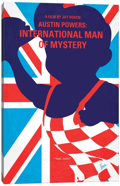 Austin Powers: International Man Of Mystery Minimal Movie Poster Canvas Print #CKG381