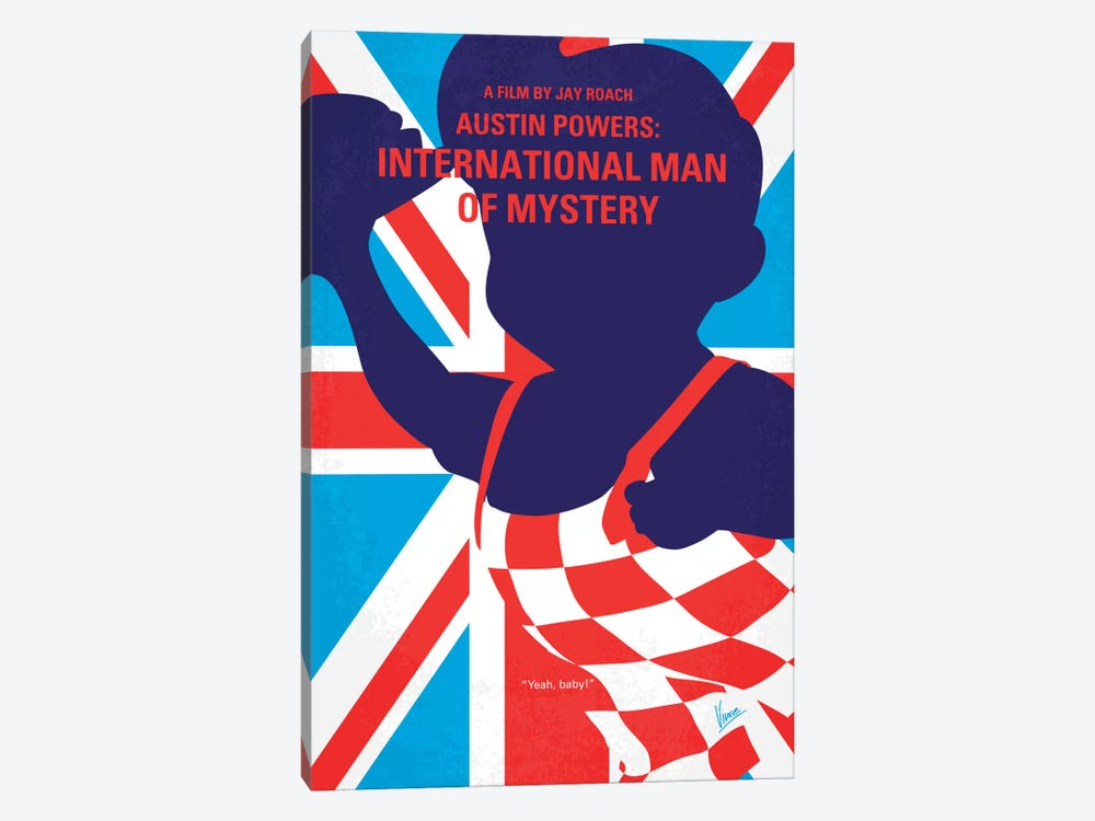 Austin Powers: International Man Of Mystery Minimal Movie Poster by Chungkong 1-piece Canvas Art