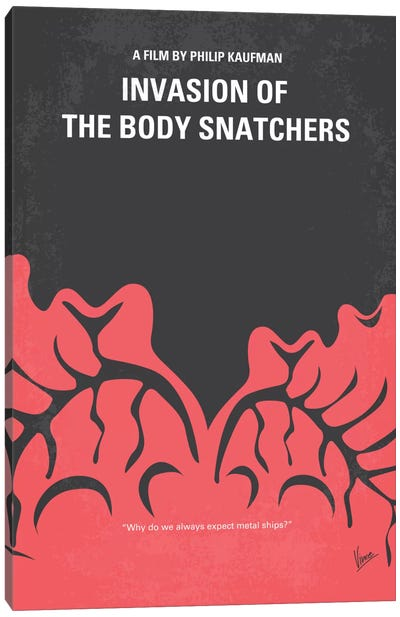 Invasion Of The Body Snatchers Minimal Movie Canvas Art Print