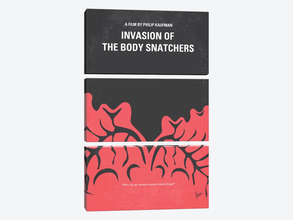 Invasion Of The Body Snatchers Minimal Movie by Chungkong 3-piece Canvas Art Print