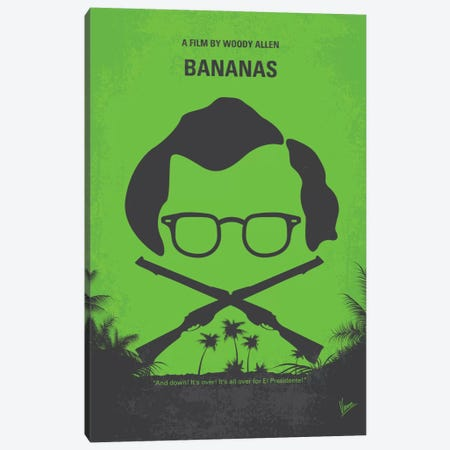 Bananas Minimal Movie Poster Canvas Print #CKG383} by Chungkong Canvas Artwork