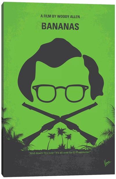 Bananas Minimal Movie Poster Canvas Print #CKG383