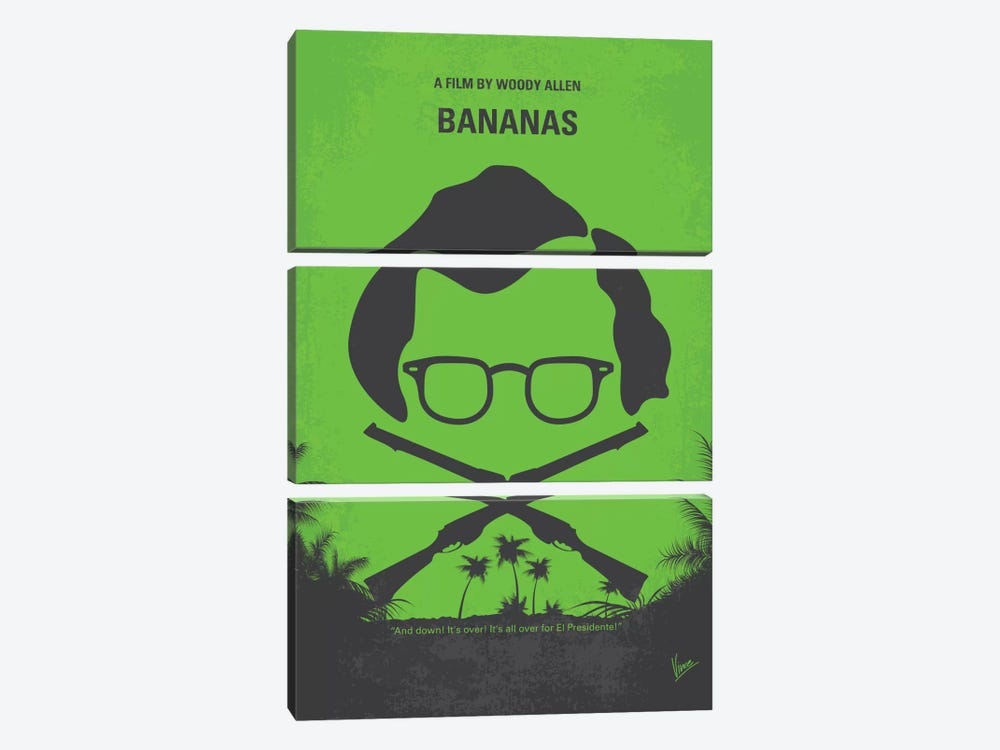 Bananas Minimal Movie Poster by Chungkong 3-piece Canvas Artwork
