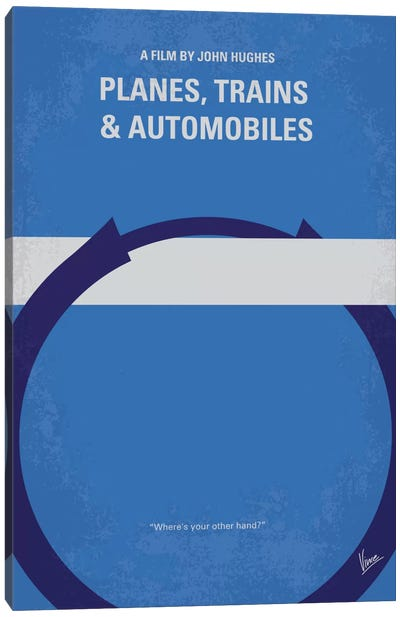 Planes, Trains And Automobiles Minimal Movie Poster Canvas Print #CKG384