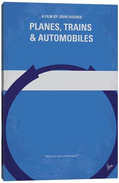 Planes, Trains And Automobiles Minimal Movie Poster Canvas Art Print