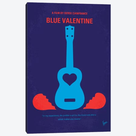 Blue Valentine Minimal Movie Poster Canvas Print #CKG387} by Chungkong Canvas Print