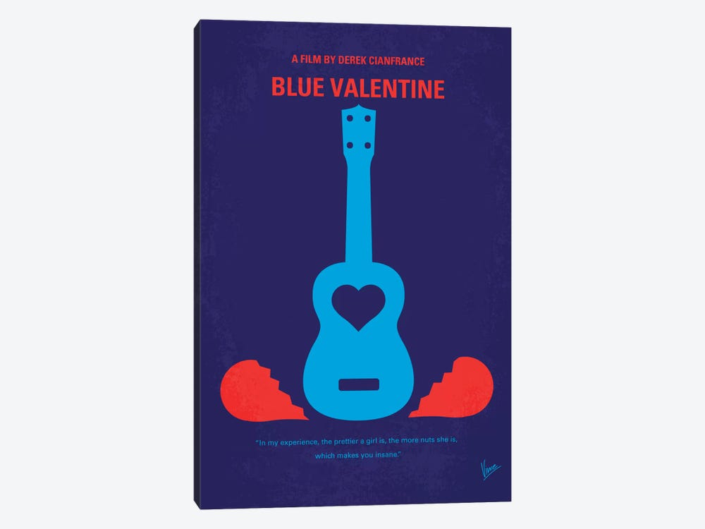 Blue Valentine Minimal Movie Poster by Chungkong 1-piece Canvas Artwork