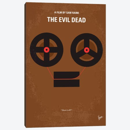 The Evil Dead Minimal Movie Poster Canvas Print #CKG388} by Chungkong Canvas Artwork