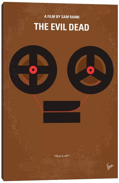 The Evil Dead Minimal Movie Poster Canvas Art Print