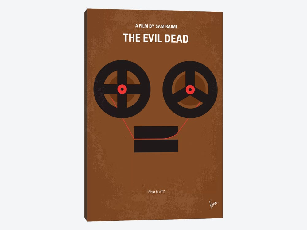 The Evil Dead Minimal Movie Poster by Chungkong 1-piece Canvas Art Print