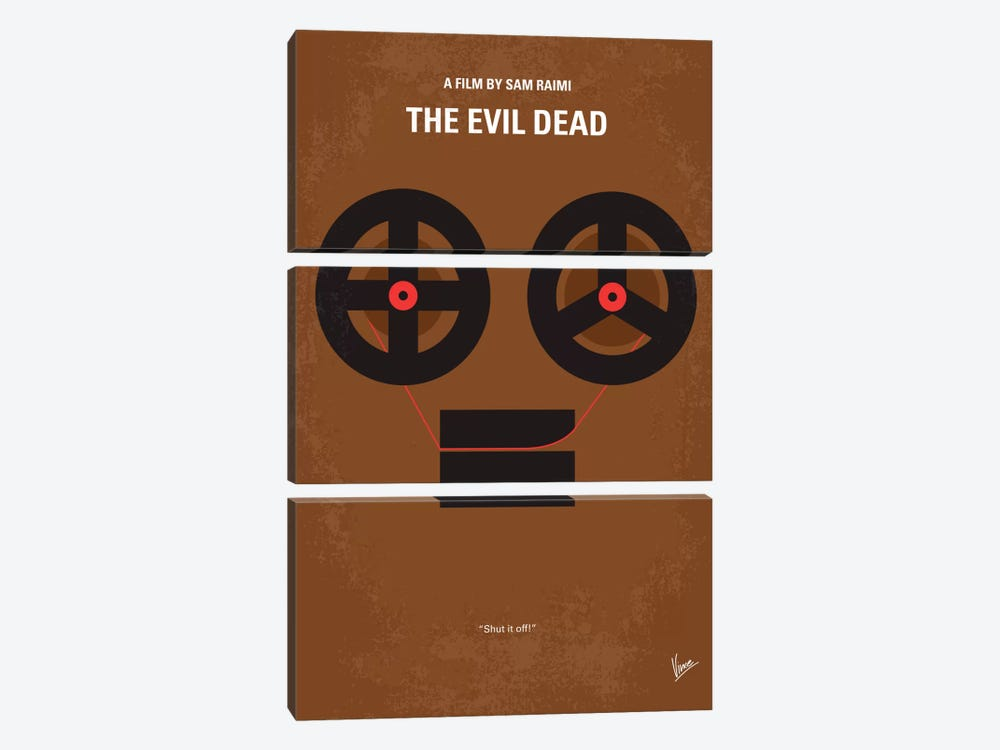 The Evil Dead Minimal Movie Poster by Chungkong 3-piece Art Print