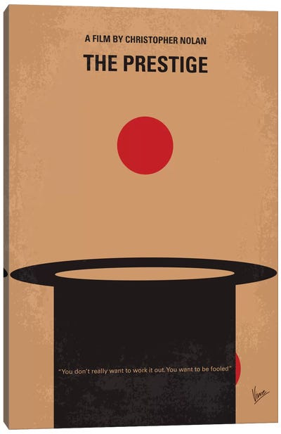 The Prestige Minimal Movie Poster Canvas Art Print