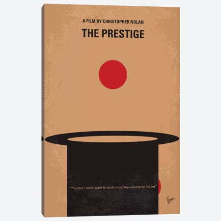The Prestige Minimal Movie Poster Canvas Print #CKG389} by Chungkong Canvas Art