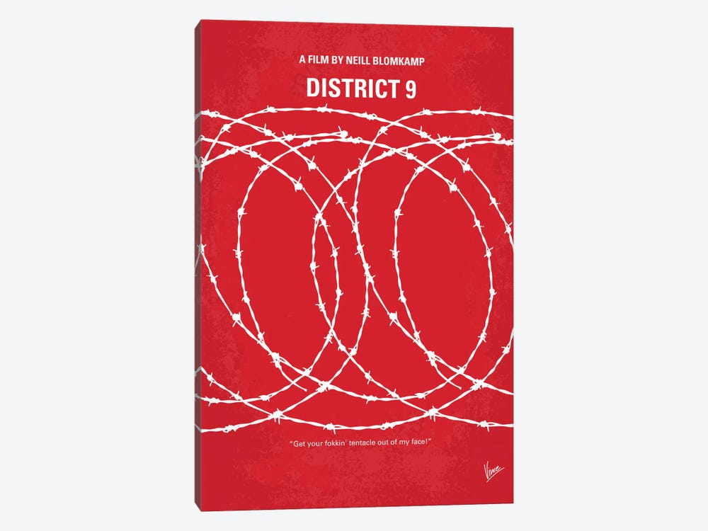 District 9 Minimal Movie Poster by Chungkong 1-piece Canvas Art