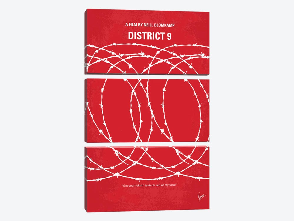 District 9 Minimal Movie Poster by Chungkong 3-piece Canvas Artwork