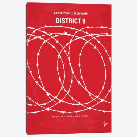 District 9 Minimal Movie Poster Canvas Print #CKG38} by Chungkong Canvas Wall Art
