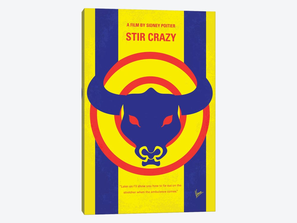 Stir Crazy Minimal Movie Poster by Chungkong 1-piece Canvas Artwork