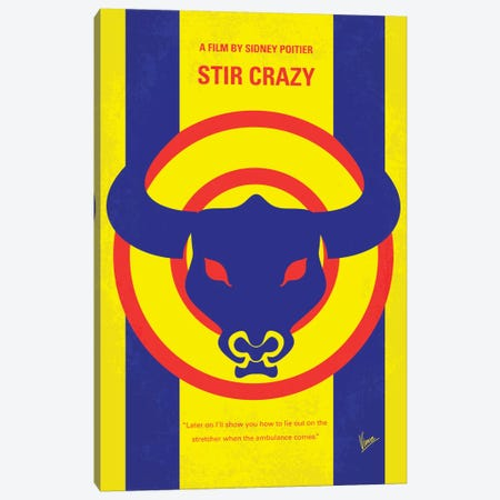 Stir Crazy Minimal Movie Poster Canvas Print #CKG390} by Chungkong Canvas Art Print