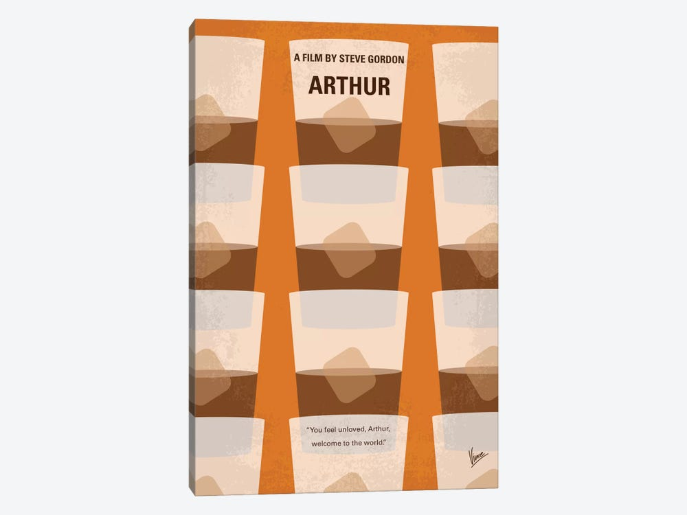 Arthur Minimal Movie Poster by Chungkong 1-piece Canvas Art Print