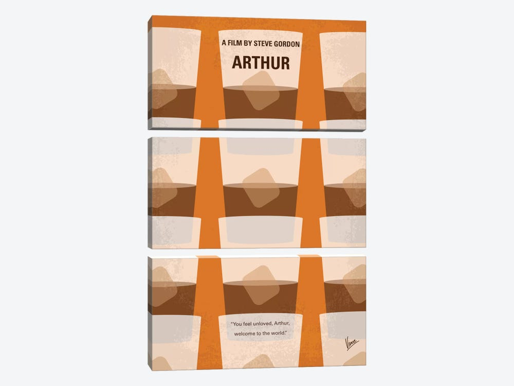 Arthur Minimal Movie Poster by Chungkong 3-piece Canvas Art Print