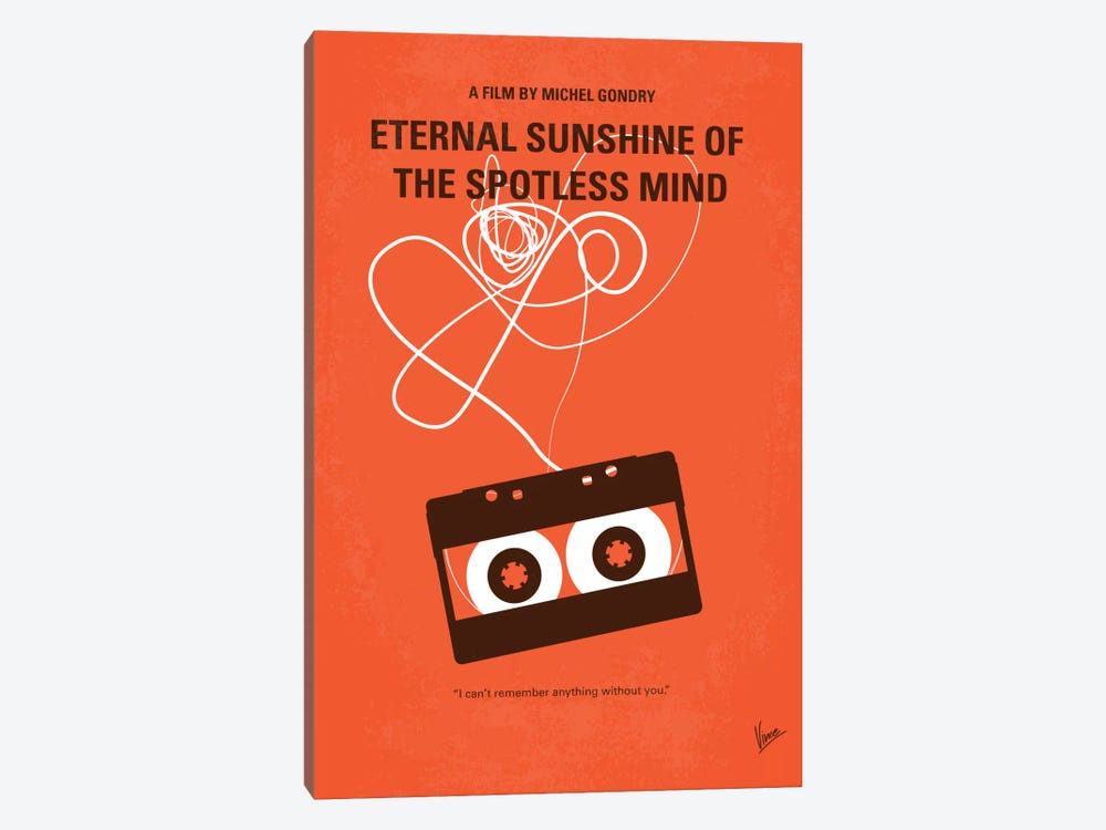 Eternal Sunshine Of The Spotless Mind Minimal Movie Poster by Chungkong 1-piece Canvas Artwork