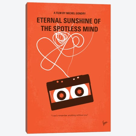 Eternal Sunshine Of The Spotless Mind Minimal Movie Poster 3-Piece Canvas #CKG392} by Chungkong Art Print