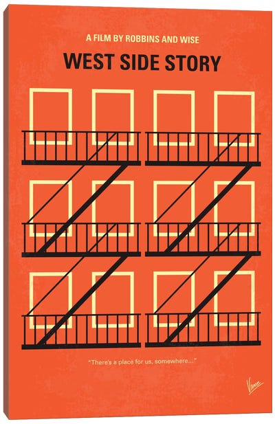 West Side Story Minimal Movie Poster Canvas Art Print