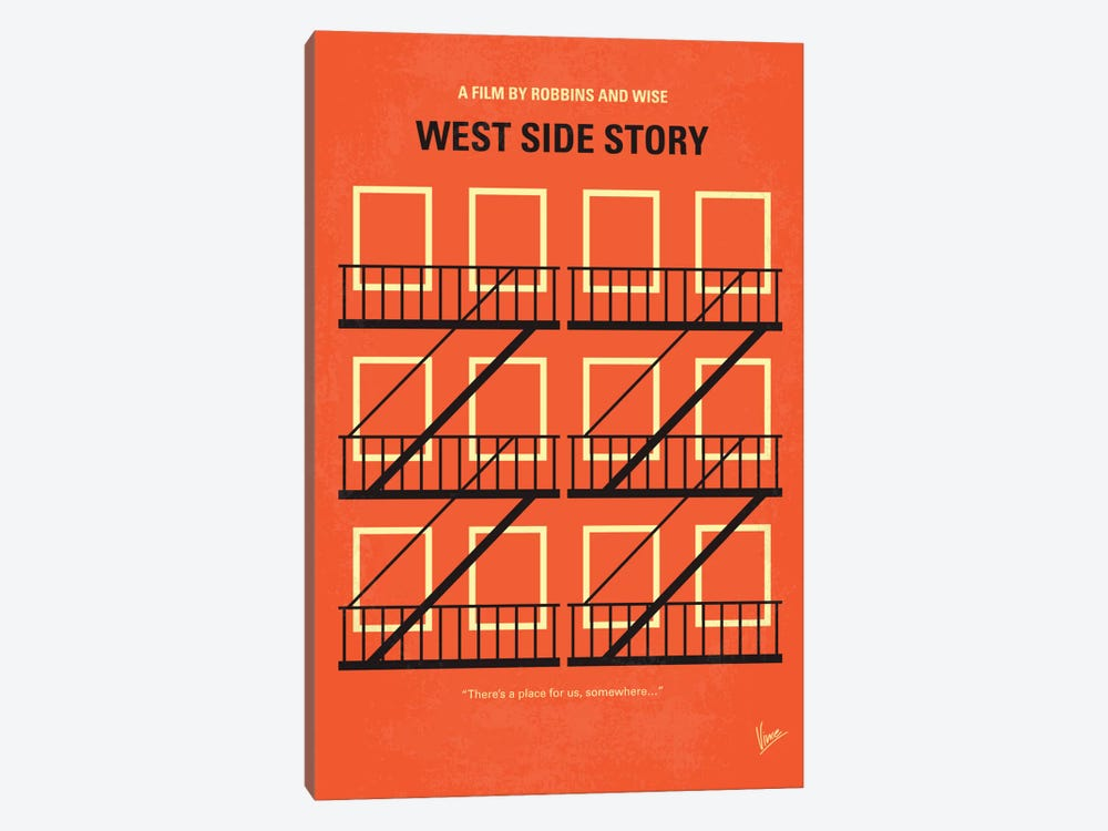 West Side Story Minimal Movie Poster by Chungkong 1-piece Canvas Art Print