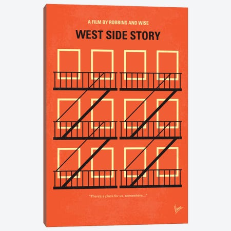 West Side Story Minimal Movie Poster Canvas Print #CKG395} by Chungkong Canvas Wall Art
